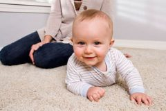 Carpet Cleaning - Gold Coast - Cleaned Carpet and Baby